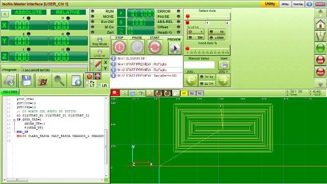 CNC pannello operatore
